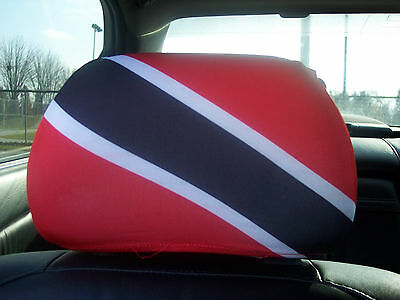 Trinidad and Tobago  Car/ Auto Headrest Flags       2 PIECES