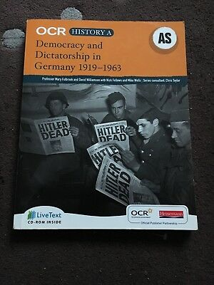 OCR AS/A Level History Democracy And Dictatorship In Germany 1919-1963 Book
