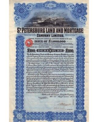 St. Petersburg Land and Mortgage Company 100 Pound 09/1912