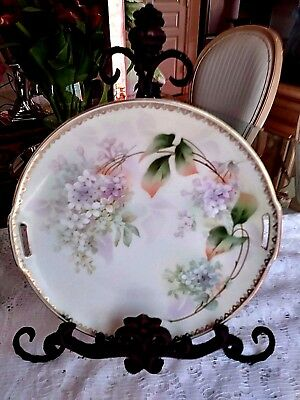 Antique RS Germany Porcelain Double Handle  Cake Plate