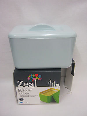 New Zeal Melamine Butter Margarine Spread Dish G265 Pale Blue