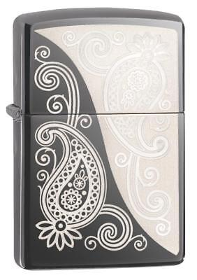 Zippo Windproof Lighter With Laser Engraved Paisley Design , 29511, New In Box