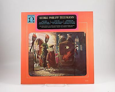 LP: Telemann Suites Strings & Continuo & Flute A & F Minor Nonesuch