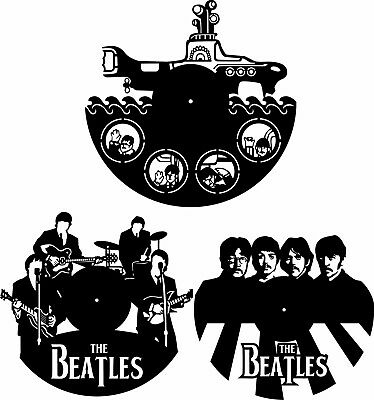 DXF CDR and EPS File For CNC Plasma or Laser Cut - Beatles Clocks