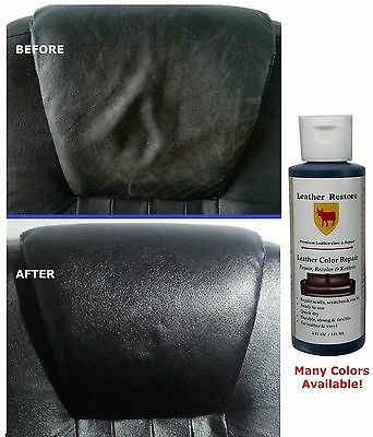 Leather Restore Repair Color Renew Touch-Up Couch Car Seats Sofa Vinyl 1 & 4 oz