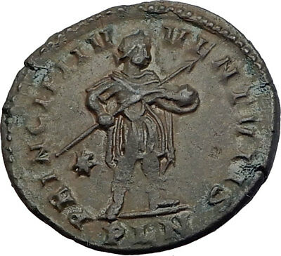 CONSTANTINE I the Great 312AD RARE Authentic Ancient Roman Coin of LONDON i64057