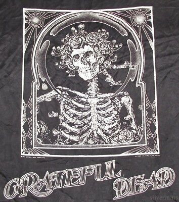 GRATEFUL DEAD Vintage Tapestry 80's SKELETON Poster 1986 HIPPY JAM BAND ROCK