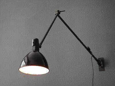Very large Industrial Mid Century enamelled joint wall lamp   Kaiser Idell era