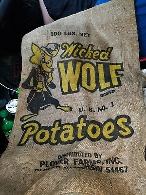 Wicked Wolf 100lbs Net burlap sack. U.S. No.1 Never Used One owner only.