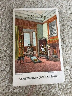 Ca 1890 Advertising Trade Card Decorate Your Home W A White Sewing Machine