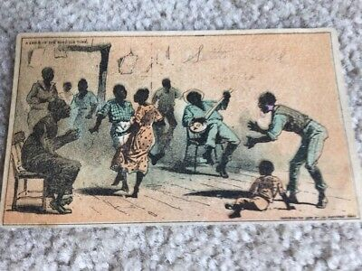 Ca 1890 Advertising Trade Card Black Americana A Cabin In The Good Old Time