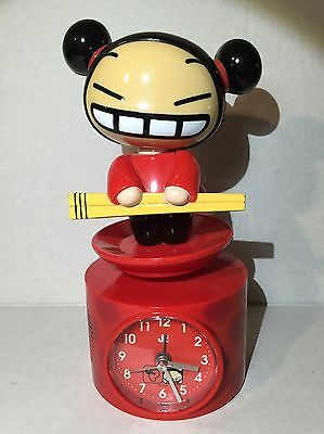 "Pucca Chopsticks 9"" Music Alarm Clock By Vooz Rare"