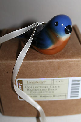 New Longaberger  Collectors Club Eastern Bluebird, Free Shipping