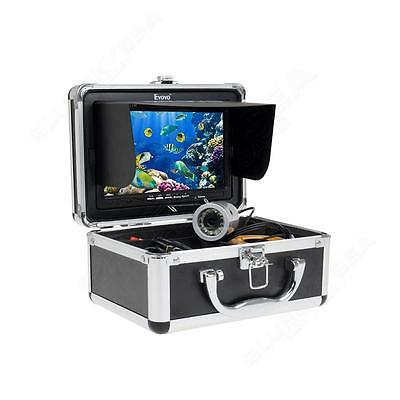 """50m Silver Fish Finder Underwater Fishing Video Cam 7""""TFT Color LCD Night Vision"""