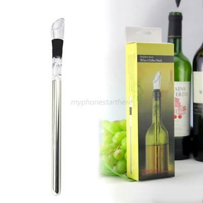 Wine Chiller Colding Cooler Stainless Steel Iced Stick Rod In Bottle Pourer Beer