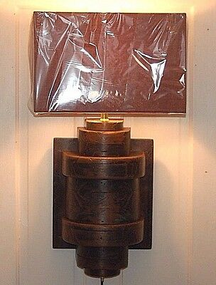 Wooden Industrial MOLD PATTERN LANTERN Wall Sconce Brass Steampunk Art Lighting