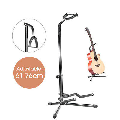 New Black Guitar Folding Tripod Stand Acoustic Electric Gear Metal Holder AU
