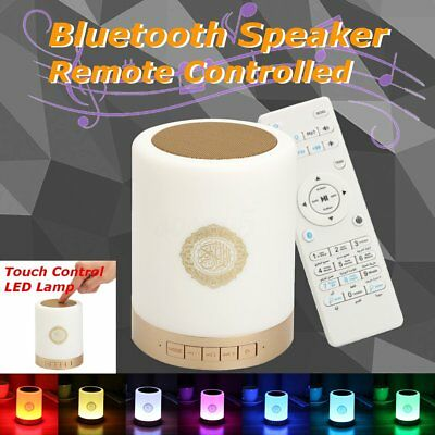 Ramadan Gift Bluetooth Stereo Speaker Quran Player Remote Controlled LED Lamp