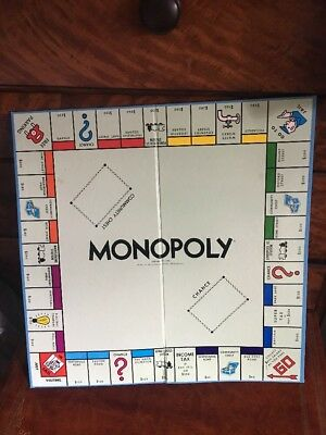 Monopoly Traditional Replacement Board Only / Other Game Parts Listed Melb