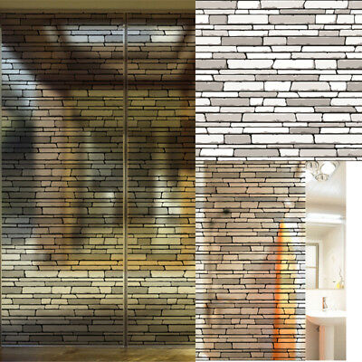 Wall Paper Brick Stone Rustic Effect Self-adhesive Wall Sticker Home Decor
