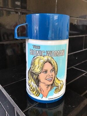 The Bionic Woman Thermal Bottle Aladdin Vintage Thermos