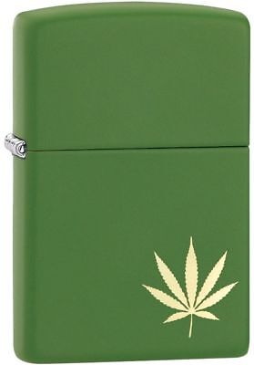 Zippo Windproof Laser Engraved Gold Marijuana Leaf Lighter, 29588, New In Box