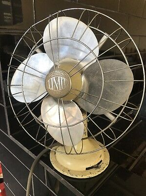 Limit 1940's Vintage 2 Speed Desk Fan Made In England Clean & Working Condition