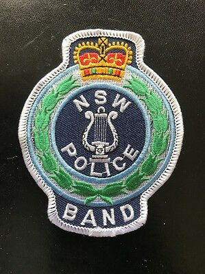 NSW POLICE BAND AUSTRALIAN Sew On Patch Badge OBSOLETE
