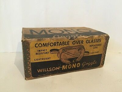 Willson Mono Vintage Goggles in Original Box