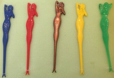5 ASSORTED MERMAID TAVERN HOTEL 70's Mancave Vintage Cocktail Bar accessories