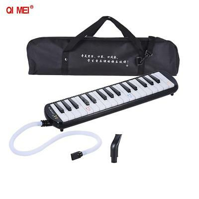 QIMEI 32 Piano Style Keys Melodica Instrument  for Beginner Kids Black Q2O4