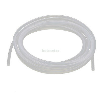 5M Length 4mm x 6mm Transparent Silicone Rubber Tubing Hose Pipe