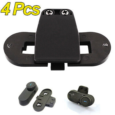 4X Bracket/Clip Black for Freedconn FDC T-COMVB T-COMSC T-COM02 T-COM02S Headset