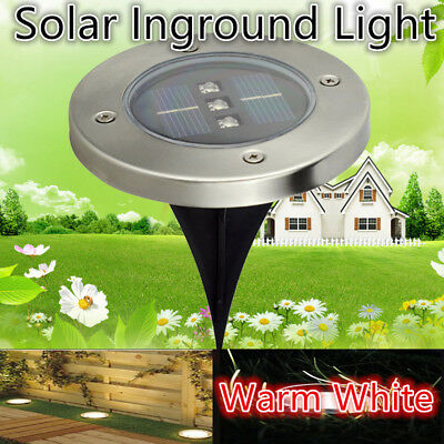 6x Solar Powered LED Buried Inground Recessed Lights Garden Outdoor Pathway Path