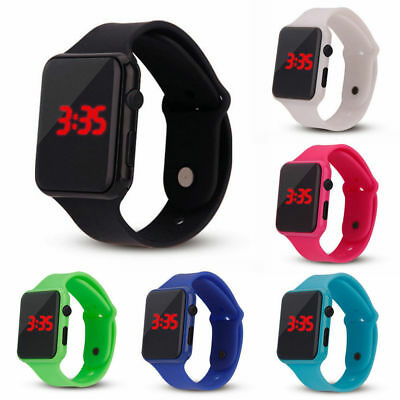 NEW Silicone LED Men Women Kids Fashion Wrist Watch Touch Digital Waterproof