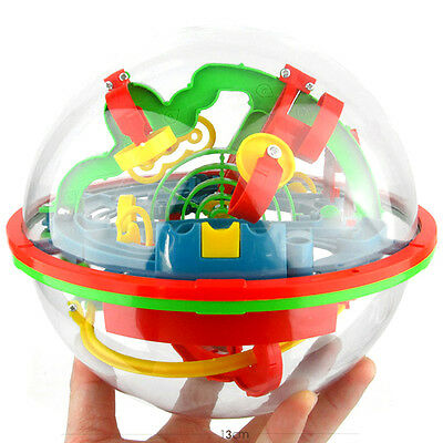 3D Spherical Maze Intellect Ball Balance Game and Puzzle Kids Toy (75 Barriers)+