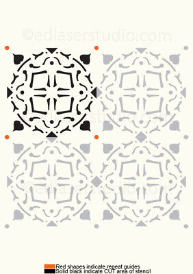 Moroccan Pattern Stencil Template Card making Paint Furniture Wall Crafts TL19