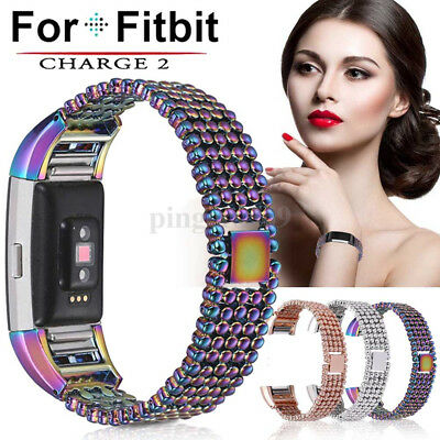 Stainless Steel Replacement Wrist Watch Strap Watchband For Fitbit Charge 2