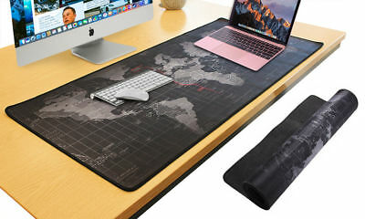 Large World Map Gaming Mouse Mat Pad