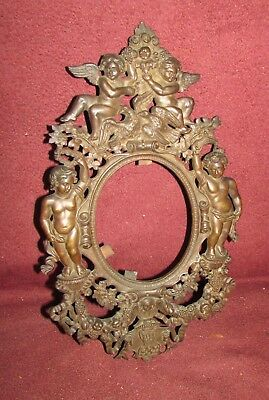 Antique Bronze Picture or Mirror Frame Sculpture With Putti French ?