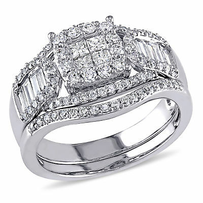Amour 1 1/5 CT TW Diamond Halo Engagement Ring in 14k White Gold