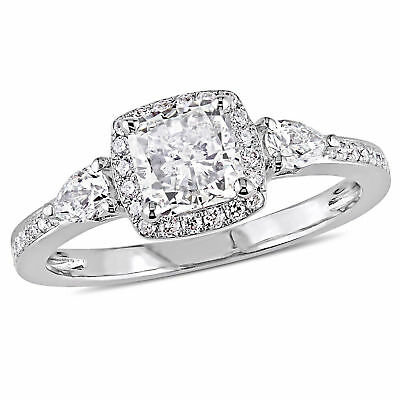 Amour 1 3/8 CT TW Diamond  3 Stone Engagement Ring  in 14k White Gold