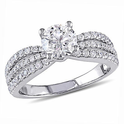 Amour 1 5/8 CT TW Diamond Multi-Row Engagement Ring in 14k White Gold