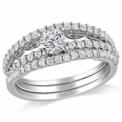 Amour 7/8 CT Diamond TW Bridal Set Ring in 14K White Gold