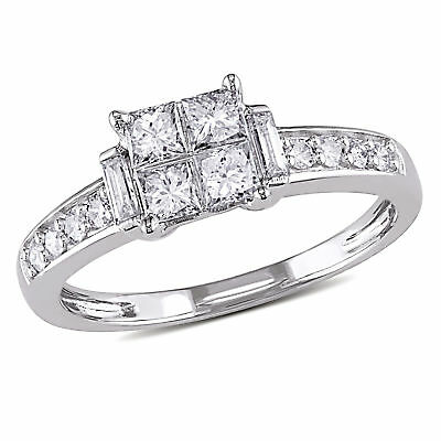 Amour 5/8 CT TW Diamond Engagement Ring in 14k White Gold