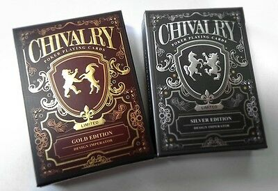 1 deck Chivalry Gold Playing Cards by Design Imperator - Limited Rare