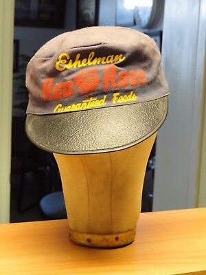 Vintage Eshelman Red Rose Guaranteed Feeds Painters Cap