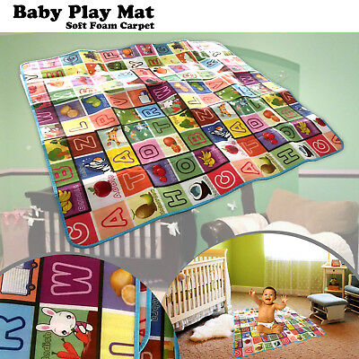 New Large 2 Side Baby Play Mat Kids Crawling Educational Game Soft Foam Carpet