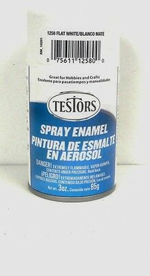 Testors Flat White Spray Paint Can 3 Oz 1258 5 51 Picclick