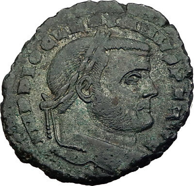 DIOCLETIAN 299AD Big Follis Authentic Ancient Roman Coin Carthago i64014
